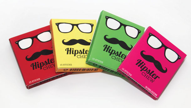 Hipster Chew Package Design